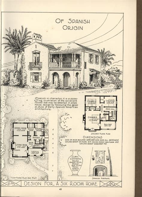 lake shore lumber coal house plans spanish style homes   plan house plans