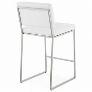 Tabouret Mi Hauteur : tabouret mi hauteur design r tro dady blanc ~ Teatrodelosmanantiales.com Idées de Décoration