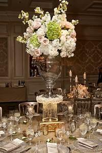 Reception Décor Photos - Tall Wedding Centerpiece with