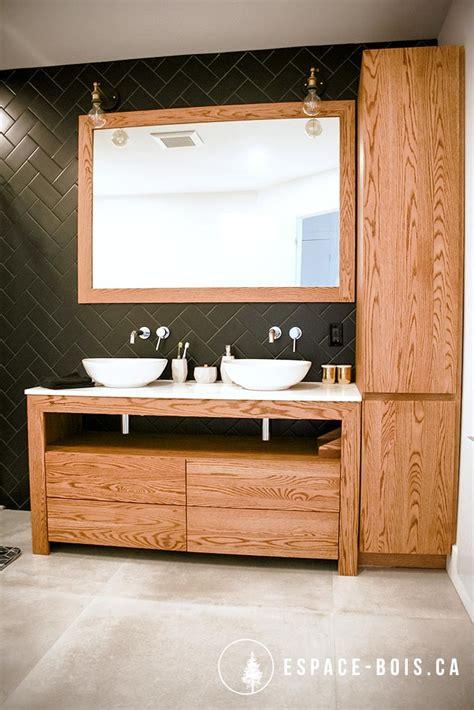 plan ilot cuisine vanité espace bois