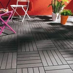 Dalle De Terrasse Castorama : dalle balcon emboitable composite 30 x 30cm castorama ~ Premium-room.com Idées de Décoration