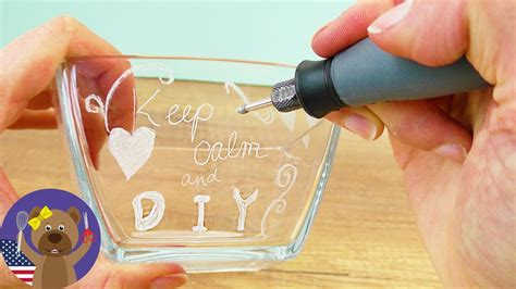 diy gift idea engraving glass testing dremel  youtube