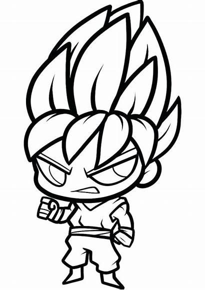 Chibi Goku Coloring Dragon Ball Pages Super