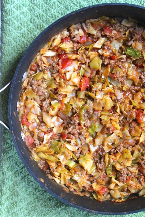 hamberger recipes amish one pan ground beef and cabbage skillet recipe skillet cabbage and super easy