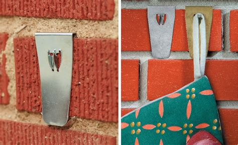 hooks for stockings on brick yes you can how to hang wreaths on a brick wall diy home decor ideas
