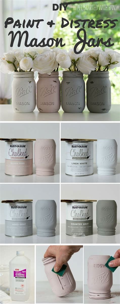 Home Decor Paint Ideas by 25 Best Ideas About Jar Crafts On