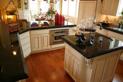 expandable kitchen island style dining room design with black pearl