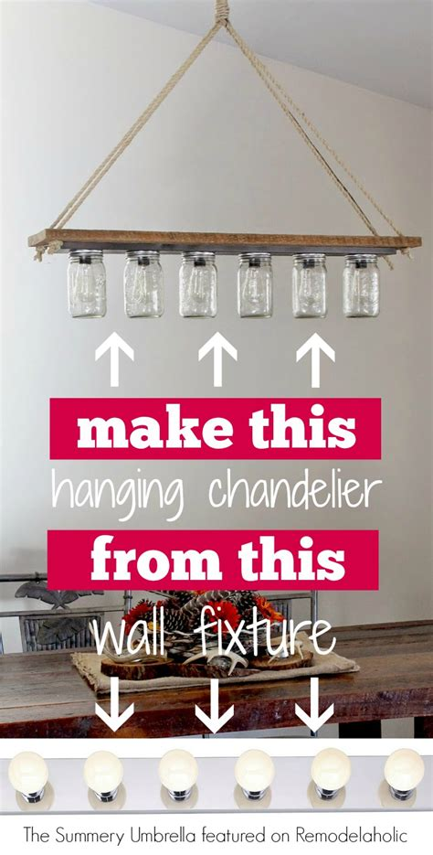 make a hanging l remodelaholic upcycle a vanity light strip to a hanging