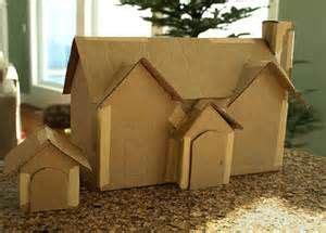 pattern cardboard christmas houses bing images