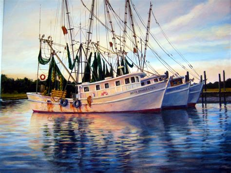 Shrimp Boat House by Shrimp Boats Three Abreast By Flaven On Deviantart