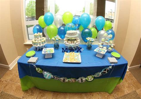 Baby Shower Blue And Green Decorations - lime green aqua blue necktie shower baby
