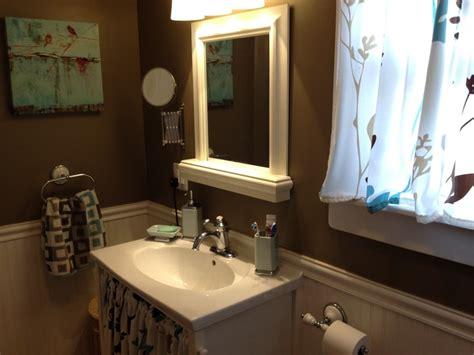 Chocolate Brown Bathroom Ideas by Chocolate Brown White Wainscoting Bathroom Ideas