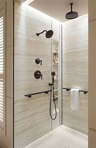 New bathroom 18 fantastic shower niches for your bath for Bathroom wall panels bunnings
