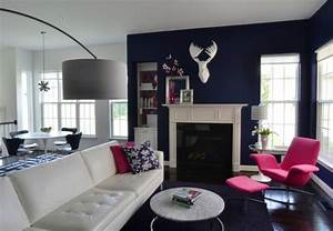 Interior architecture designs navy blue and white for Interior design living room navy blue