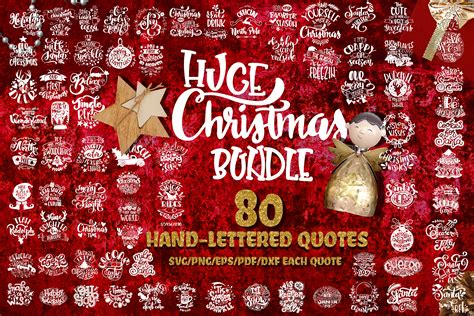 I have gathered up my absolute favorite christmas svg files that are free to download and use for your christmas shirts, signs, and more! Christmas svg BUNDLE BIG set of 80 quotes