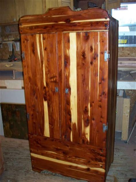 restored cedar armoire