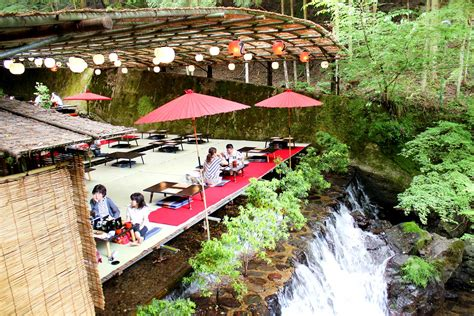 multi cuisine meaning dine atop a waterfall at these 39 kawadoko 39 restaurants