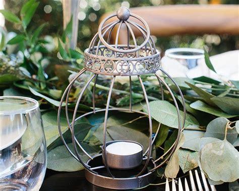 Vintage Bird Cage Lantern Table Centerpiece