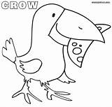 Crow Coloring Pages Sheets Sheet Crows Colorings Easy Animal Drawing sketch template