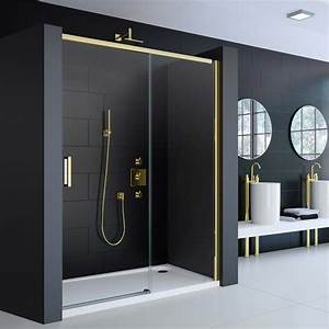 porte de douche coulissante colors gold 120 ou 140 cm With porte douche coulissante 140
