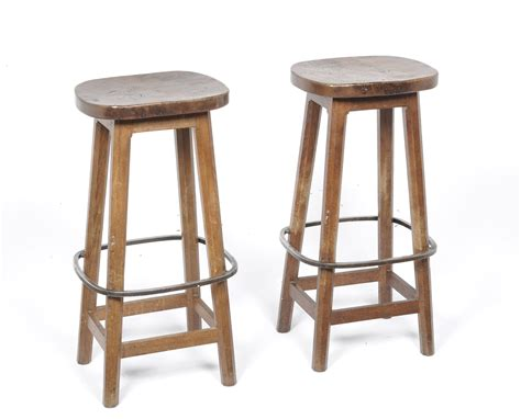 oak bar stools tennants auctioneers a pair of robert quot mouseman quot thompson 1126