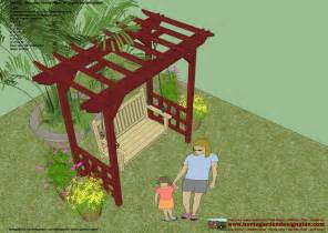 Free Woodworking Plans For Outdoor Furniture by Home Garden Plans Sw100 Arbor Swing Plans Swing
