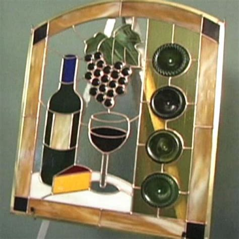 how to make a stained glass l how to make a wine bottle stained glass panel hgtv