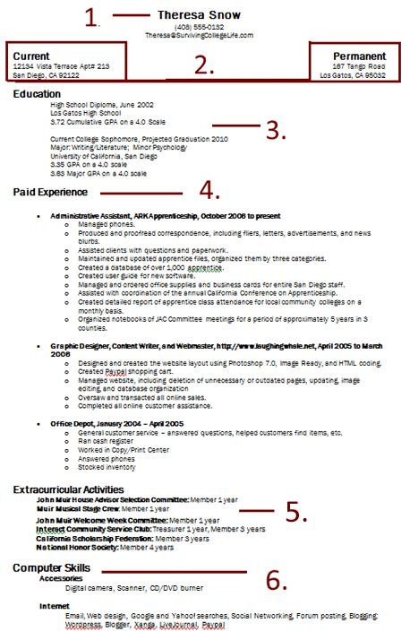 out of college resume resume ideas