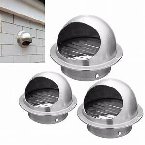 Wall Air Vent Stainless Steel Metal Exhaust Grille Duct