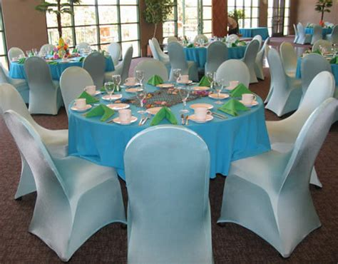 sleek modern table and chair covers for weddings