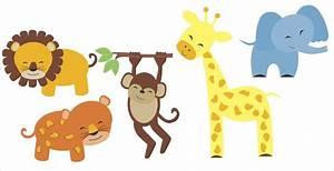 Jungle Safari Animal Set Wall Decals For Nursery Decor