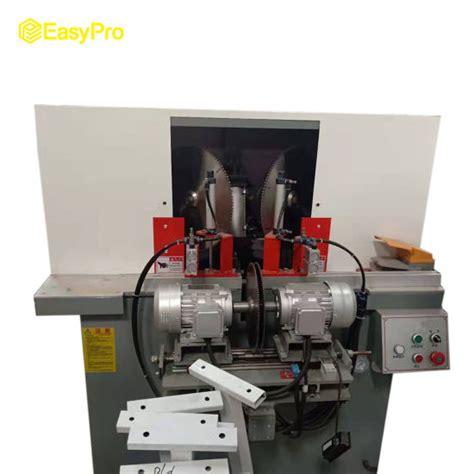 double  bladesmotors cuttingnotching machine  aluminum wooden profile cornercorner