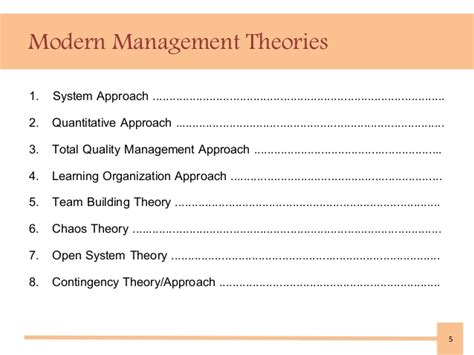 modern concept of management modern management theories