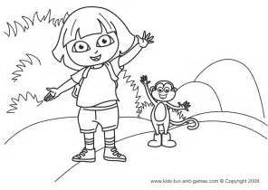 Dora Coloring Pages Games