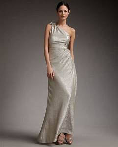 metallic wedding guest dresses one shoulder long champagne With champagne dress for wedding guest