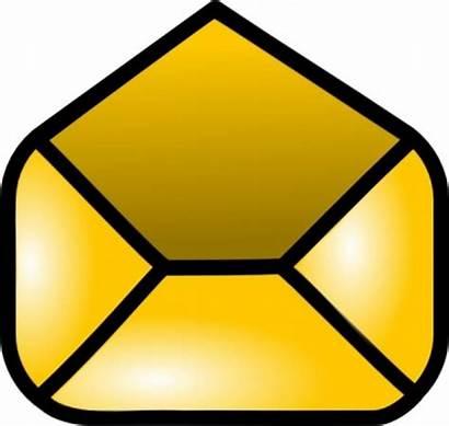 Envelope Clip Clipart Open Icon Vector Yellow