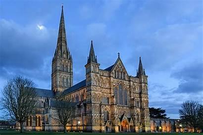 Cathedral Salisbury England Sky Wallpapers Under Desktop