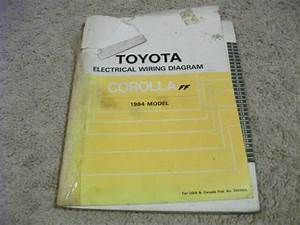 1984 Toyota Corolla Ff Electric Wiring Diagrams Service