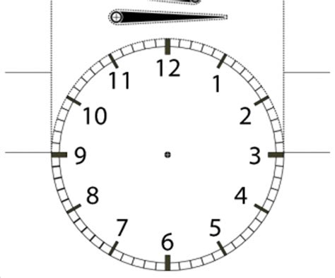 telling  time cutout student desktop clock  numbers