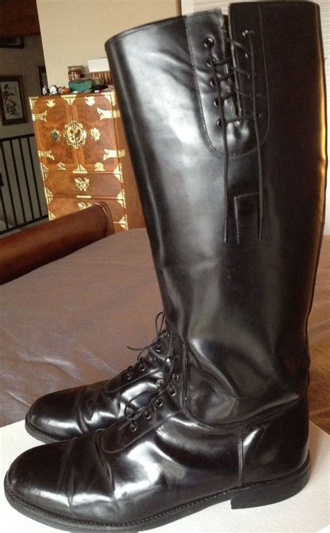 american motorcycle boots police black leather motorcycle boots men 39 s size 10 5