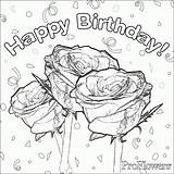 Coloring Birthday Happy Mom Pages Card Boy Rose Sheets Printable Flower Drawing Cards Adult Colouring Roses Adults Flowers Flowercoloring Enjoy sketch template