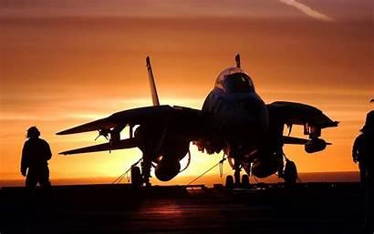 Sunset Aircraft Carrier Jet Tomcat F14 Fighter