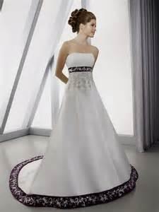 wedding dresses with purple accents purple accent wedding dress naf dresses