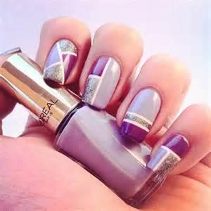 Simple Purple Nail Art Designs