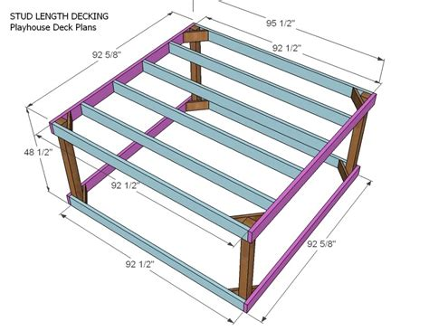 deck joist span 2x6 white playhouse deck options diy projects