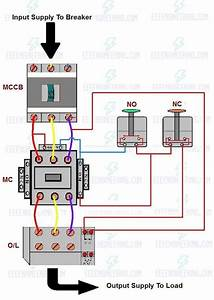 How To Wire Up A Dol Starter To A Single Phase Motor