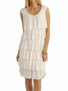 robe volants superposes imprimes ou unis cpourl With robe de cocktail combiné avec bracelet suivi cardiaque