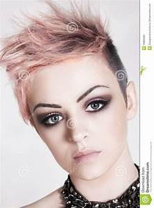 Attractive Young Woman With A Punk Hairstyle Royalty Free