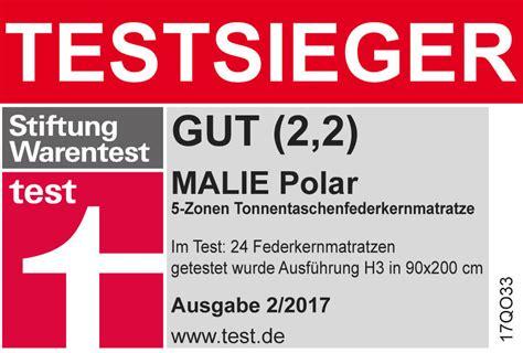 Stiftung Warentest Dfbackofen by Taschenfederkern Matratze Bis 100 Kg Malie Polar Betten De