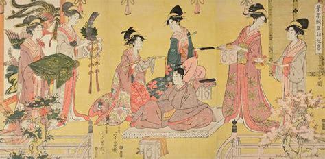File:Chokosai Eisho (act. c. 1795-1801). 'Minister Narihira's Coming of Age,' Japan, Edo period ...